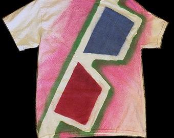 3-D T-Shirt - Medium Pink/Green