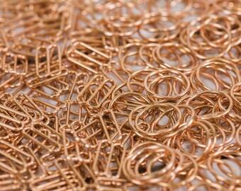 "12 Sets 5/8"" Copper Metal Rings and Sliders Premium Jewelry Quality Bra Adjusters Nickel Free 12mm Bra Making Bramaking"