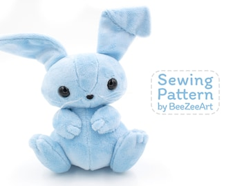 Bunny Stuffed Animal Sewing Pattern, Plush Toy Pattern, Rabbit Plushie Pattern, PDF, Digital Download