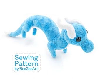 Shoulder Dragon Plush Sewing Pattern, Plush Toy Pattern, Costume Dragon, Stuffed Animal Pattern, PDF Digital Download