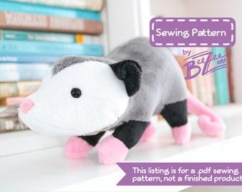 Stuffed Animal Opossum Sewing Pattern - PDF Digital Download - Plush Sewing DIY Project - No Physical Items Sent