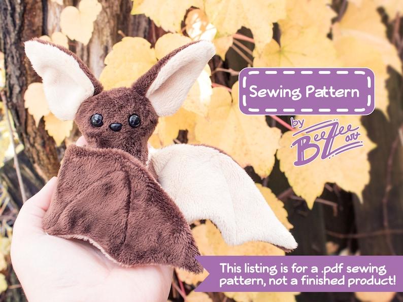 Beginner Bat Sewing Pattern   PDF Digital Download  Plush image 0