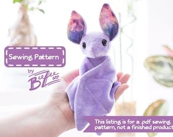 Stuffed Animal Bat Sewing Pattern - PDF Digital Download - Plush Sewing DIY Project - No Physical Items Sent