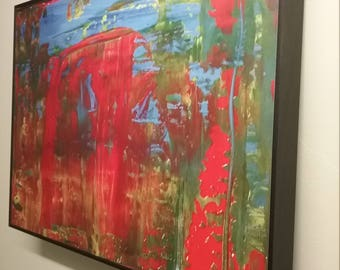 Framed Abstract Painting Photograph 1