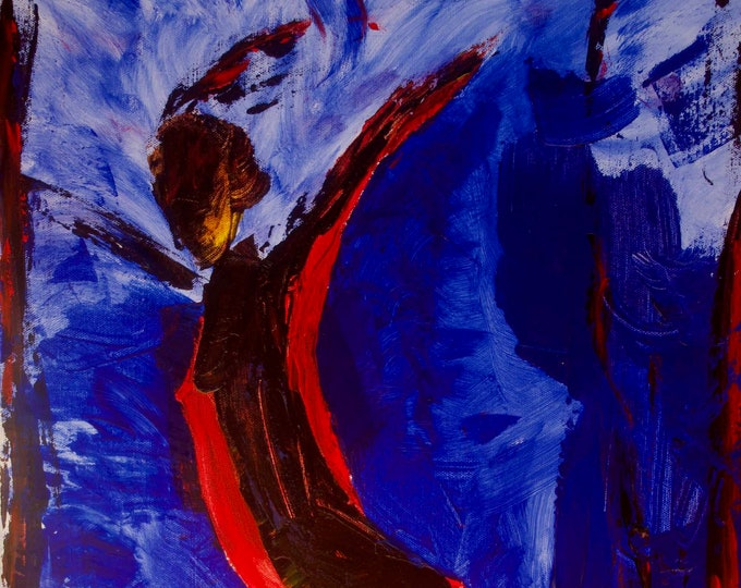 The Dancer Emerges Abstract Nude Dancer  Gallery Quality Canvas Print
