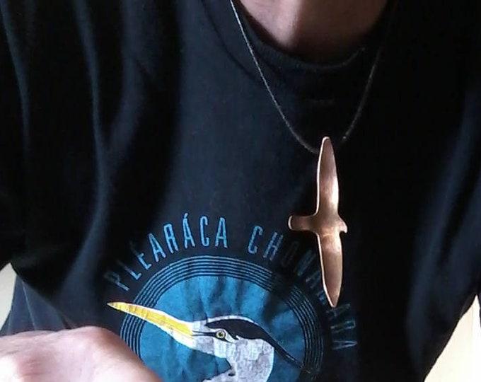 Peregrine Falcon Pendant in Bronze