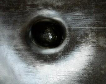 Steel Eye 2, Abstract Art, Black And White Photo, Contemporary Art, Modern Irish Art, Limited Edition Print, 75 Years Lifespan.