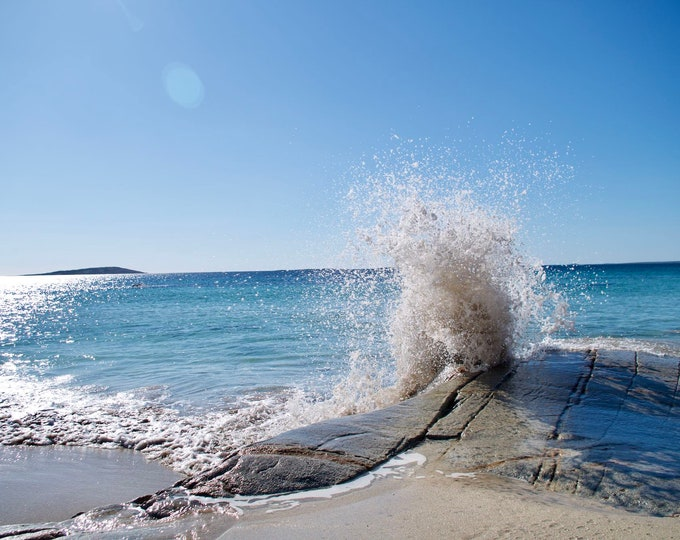 Wave Art 7, Turquoise Seas, Atlantic Ocean, Blue Skies, Island in the Sun, Limited Edition Photo