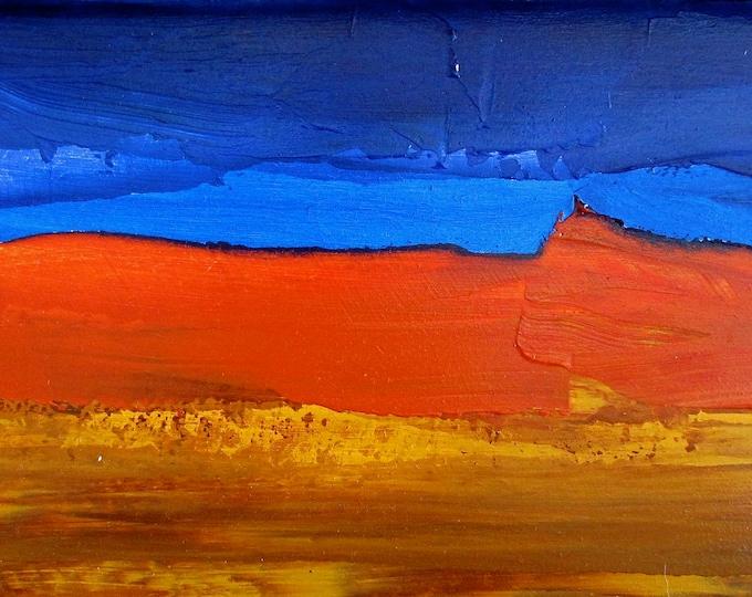 Connemara Bog Abstract Landscape, Aqua Marine, Blue, Tan, Rust, Art For Wall, Wild Atlantic Way, Irish Art Print, Open Edition
