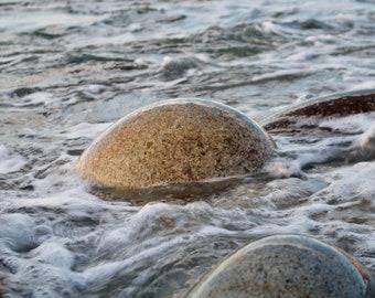 Round Stone Atlantic Ocean, Connemara, Limited Edition, Irish Landscape