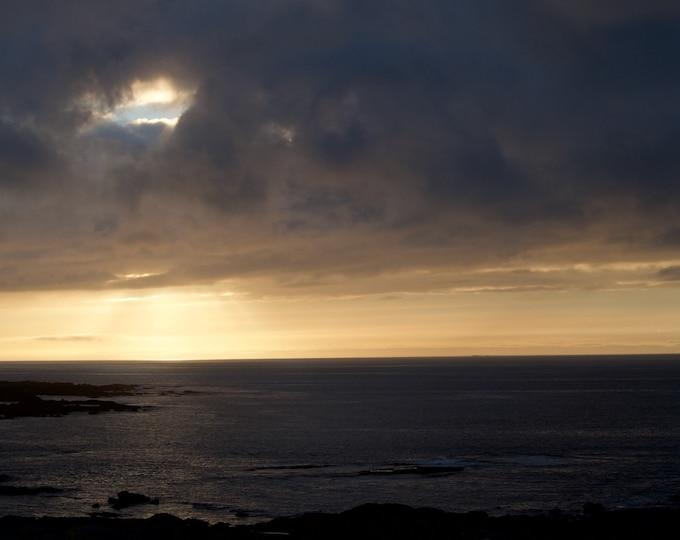 Golden Sea 2, Atlantic Ocean Sunset,Limited Edition, Irish Landscape, Ireland