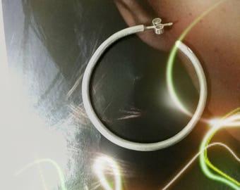 Handmade Solid Silver Hoop Earring