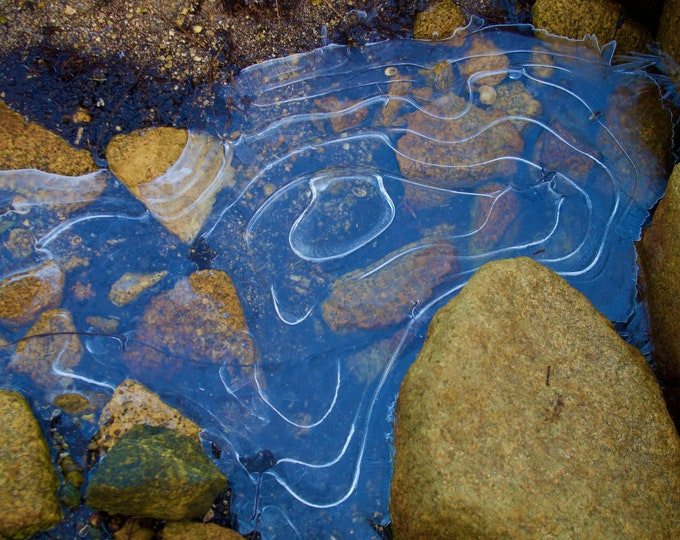 Ice Pattern 4, Winter Connemara Photographs, Limited Edition, Frozen Pools, Home Office Decor