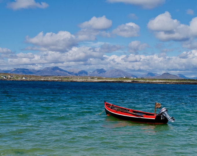 Connemara Fishing Boat Print On Canvas, Ready To Hang On Wall, Limited Edition