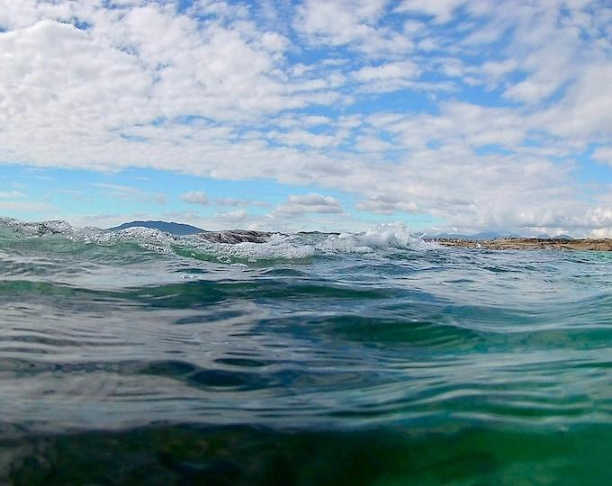 Atlantic Ocean Bubbles, Green Seas, White Clouds, Connemara Wall Decor Limited Edition