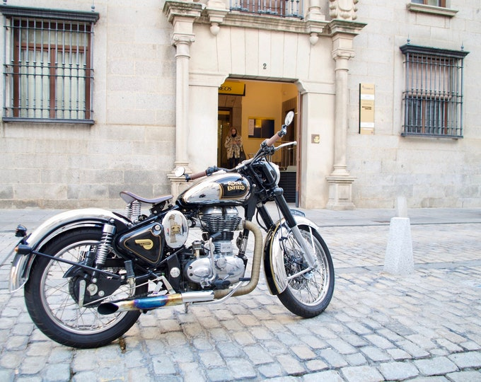Ávila, Royal Enfield, Motorcycling, Motorbike, Freedom, Travel, Cobbled Stones, Ancient City, Limited Edition Travel Photo