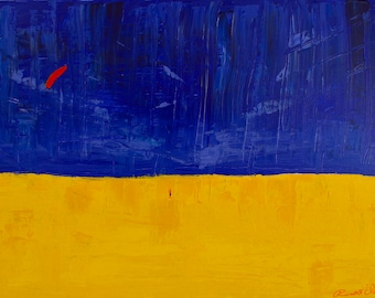 Go Fly A Kite, Beach, Yellow Sand, Blue Sky, Red Kite, Summer, Happy Child in Man in Woman, Gallery & Collector Quality, 75 Year Lifespan
