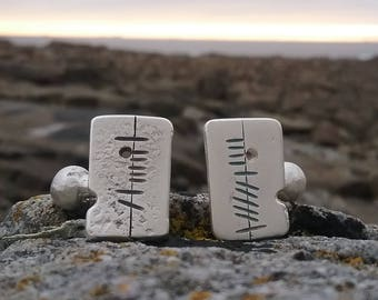 Sterling Silver Anam Cara Soul Friend  Cufflink, Handmade Cufflinks, Irish Made, Made in Ireland Jewellery, Jewellery for Anniversary, Men,