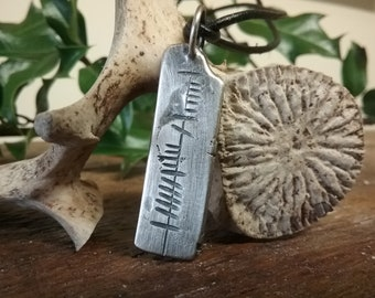 Anam Cara Soul Friend Silver Pendant with Ogham Writing