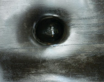 Steel Eye 3, Sculpture Art Photo, Black And White Sculpture Print, Modern Art Print, Powerful Print, 75 Years Lifespan Limited Edition