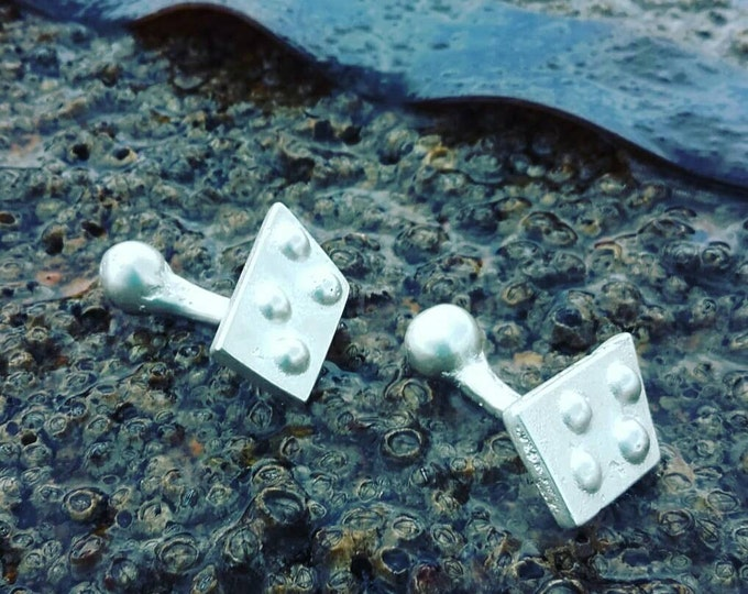 Sterling Silver Knight Cufflinks