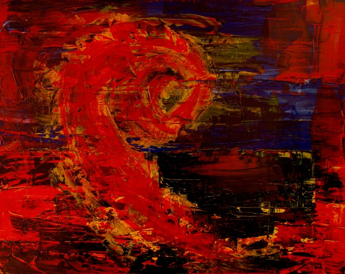 Dragon, Fire, Explosion, Red Hot Cosmic Print on Fuji Crystal Paper, 75 year Lifespan, Gallery& Collector Quality