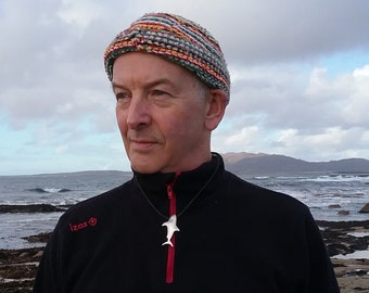 Silver Shark Pendant with Leather Necklace, Man's Pendant, Irish Designer Made, Made in Connemara, Ireland, Authentic