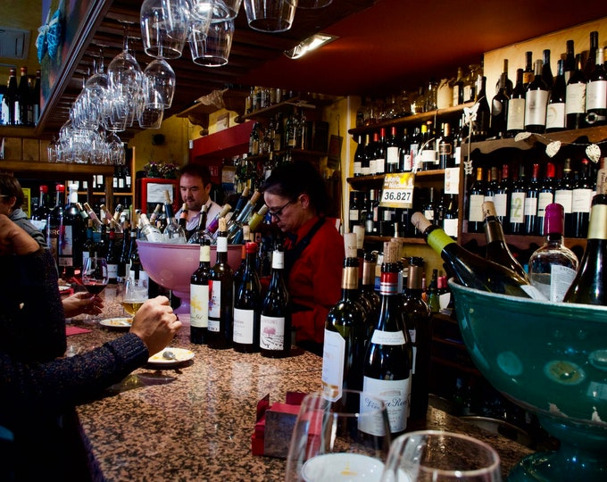 Ávila Wine Bar Spain, Tapas, Wine Glasses, Drinking Together, Limited Edition Travel Photo