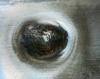 Steel Eye 4, Black, White, Grey and Blue, Abstract Contemporary Photo Print Special Edition, Irish Artist, 75 Years Lifespan