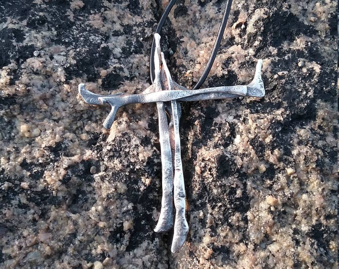 Contemporary Sterling Silver Cross