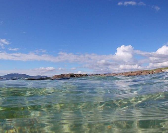 September Swim, Connemara Seascape, Blue Skies,Atlantic Ocean Limited Edition Print on Aluminium Dibond