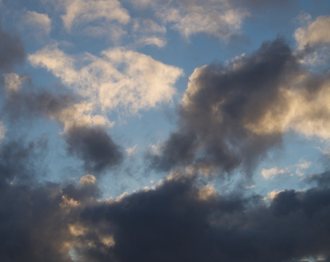 Winter Clouds, Limited Edition Print, Connemara Sky, Ireland,