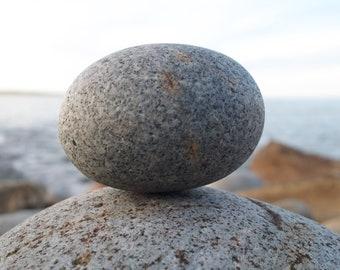 Granite Oval Stone, Atlantic Ocean, Limited Edition Print, Home Office Decor