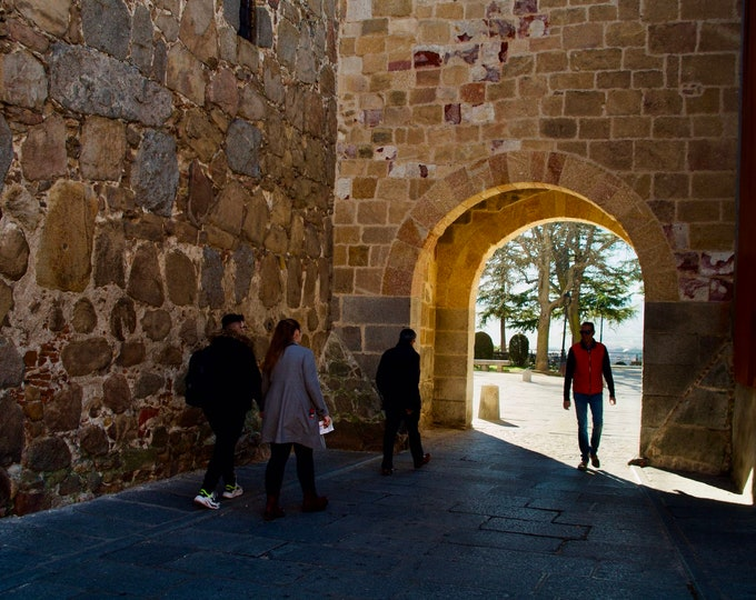 Early Morning Stroll in Ávila Castle, Spain, Stone Walls, Winter Sunshine, Limited Edition Travel Photo