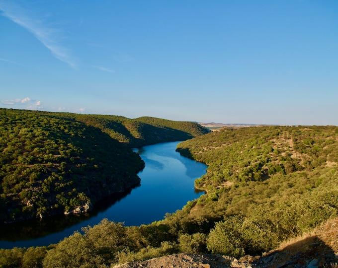 Camino Natural del Tajo, España, River, Hills, Blue Skies Limited Edition Landscape Photo