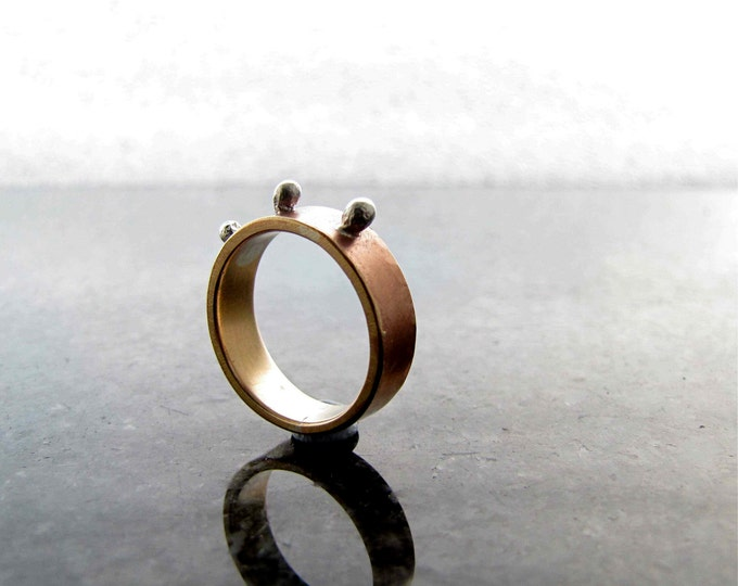 Bronze Princess Ring with Sterling Silver
