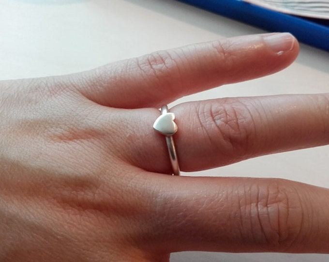 Sterling Silver Handmade Heart Ring, Elegant, Simple designer ring, Irish Design, Celtic, Adam Cara, Lover, Romantic, Free Shipping