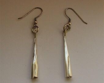 Silver Folded Earrings