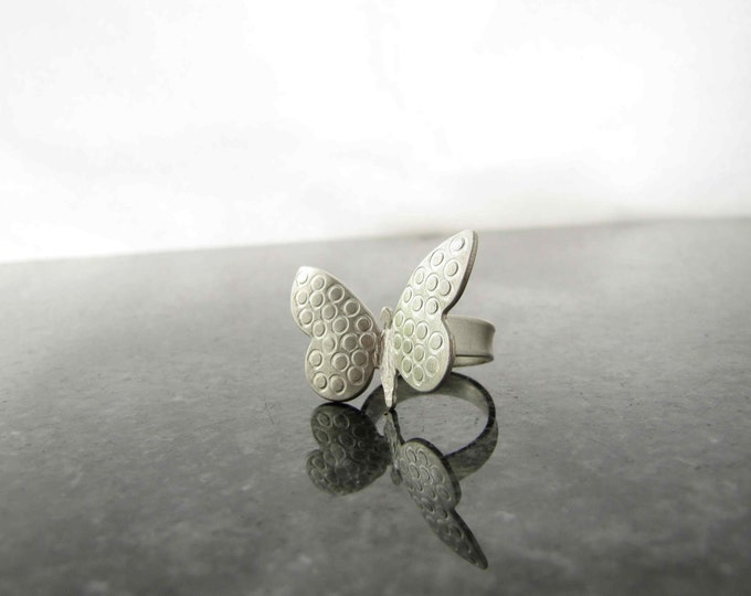 Silver Handmade Butterfly Rings, inspired by Summer.