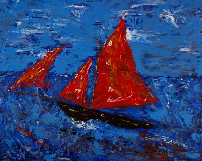 Galway Hooker 2021, Summer Sailing, Traditional Boats, Red Sails, Limited Edition