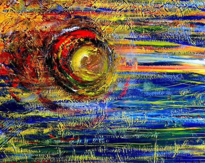 Outer Space Painting, Abstract Painting, Bright Coloured Painting, Irish Artist, Contemporary Art, Unique Art