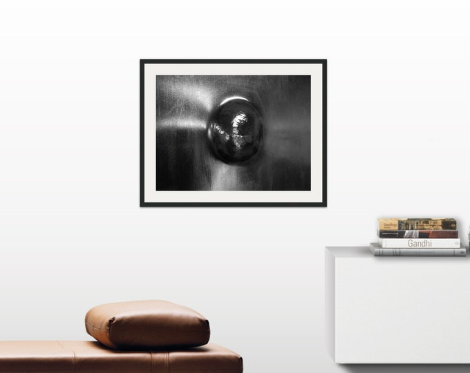 Erotic Steel Nude Breast 1 Abstract Torso, Irish Artist, Made In Ireland, Black and White Photo Wall Art Print, Open Edition