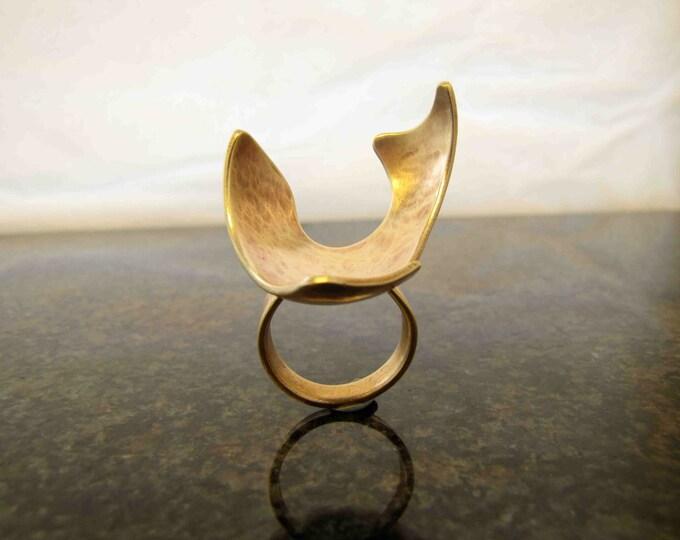 Boudicca Celtic Statement Bronze Ring
