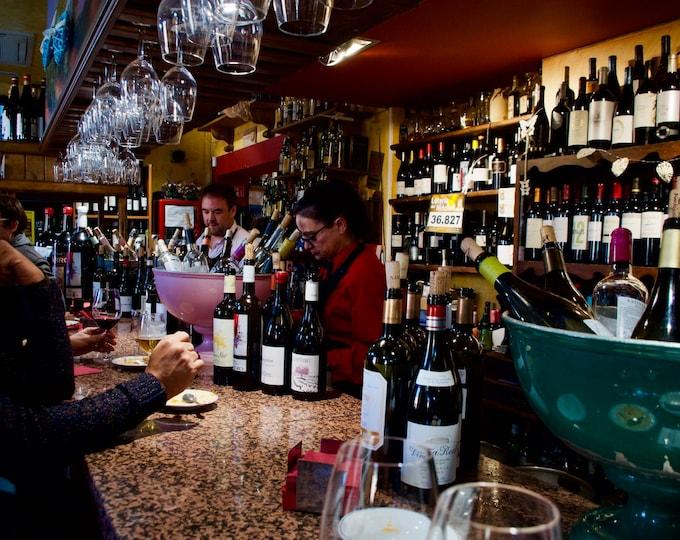 Ávila Wine Bar Spain, Tapas, Wine Glasses, Drinking Together, Limited Edition Travel Photo