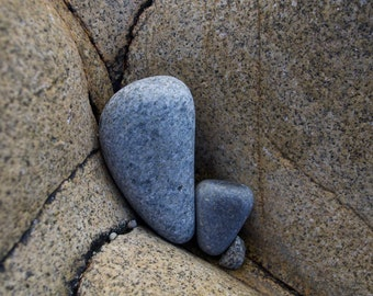 Three Stone, Rocks, Blue, Atlantic Ocean, Connemara, Limited Edition Photo