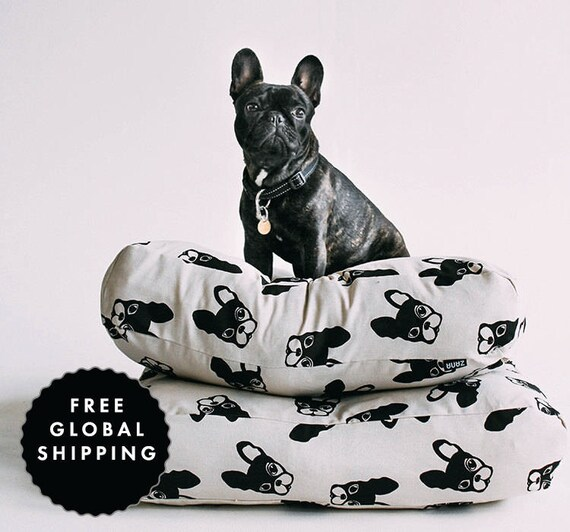 Vloer Kussen Frenchie Patroon Franse Bulldog Design Modern Etsy
