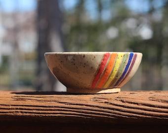 Rainbow Bowl // Tiny Bowl // Small Bowl // Tiny Planter