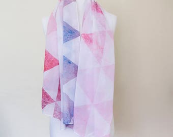 Watercolour triangles supersoft scarf - hand-painted designs WC TRIANGLES
