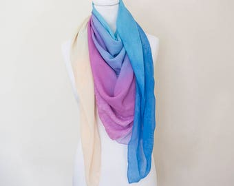 Abstract watercolour supersoft scarf - hand-painted designs ABSTRACT WC
