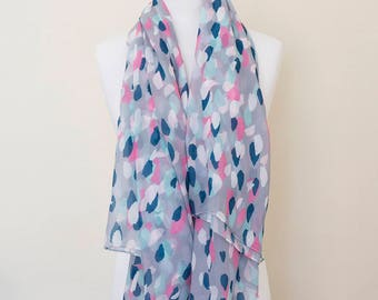 Abstract paint supersoft scarf - hand-painted designs ABSTRACT PAINT